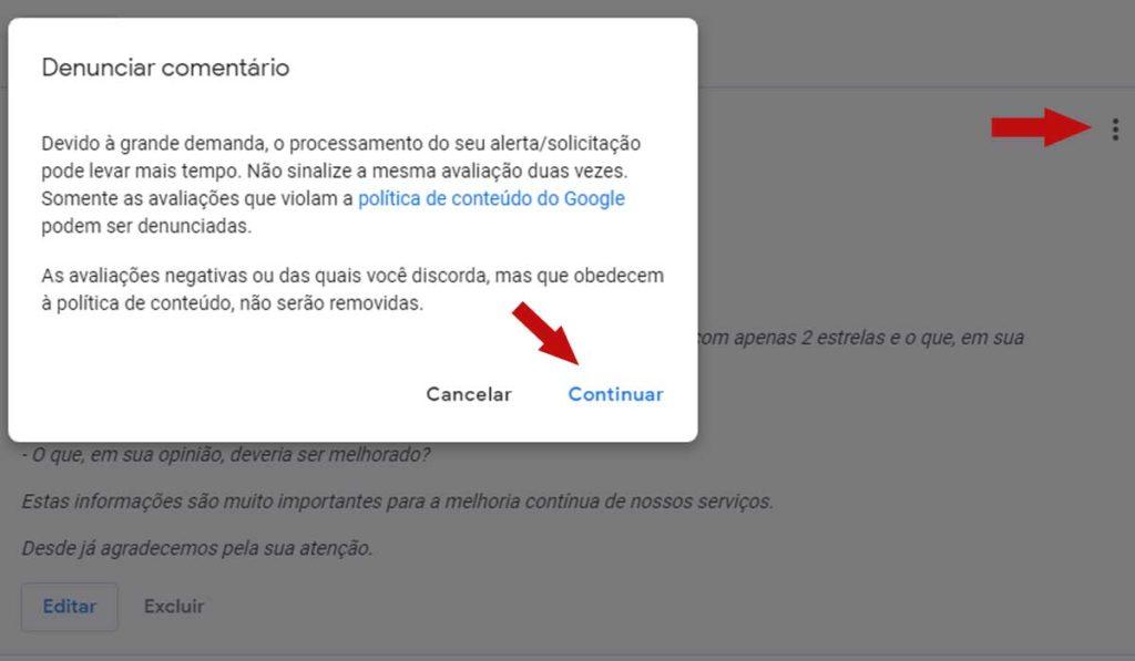 Como apagar avaliações falsas do Google Meu Negócio Google Meu Negócio  avaliacao-falsa-no-google-meu-negocio-2-1024x597