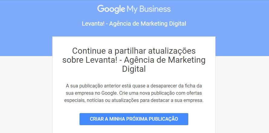 Como fazer posts lucrativos no Google Meu Negócio Google Meu Negócio Marketing Digital  Publicacao_expirar_GMN